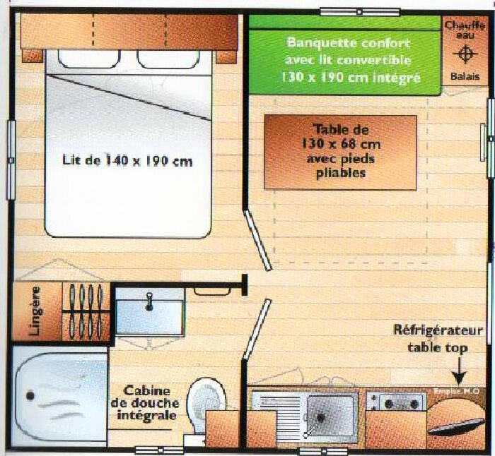 Mobil-Home 2 personnes, Durfort