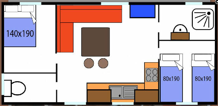 Mobil-Home 4 personnes, Pamiers